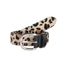 VANZETTI Gürtel im Leoparden-Design 3.0cm creme / braun