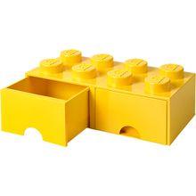 LEGO Schubladenbox Storage Brick 8er Stein gelb