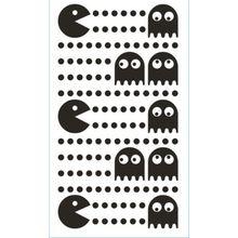 Wand Sticker Pac Man, XS