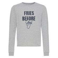 NAME IT Kürzer geschnittenes Print Sweatshirt grau