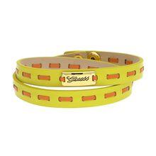 Guess Guess Damen Wickelarmband Leder Gelb/Orange UBB21308 Armbänder orange/gelb Damen