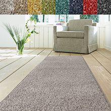 Teppich Läufer Luxury | moderne Shaggy Optik mit flauschigem Hochflor | Teppichläufer in vielen Farben für Flur, Schlafzimmer, Wohnzimmer etc. | viele Breiten und Längen (80 x 350cm, grau)