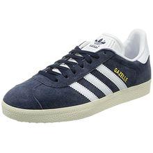 adidas Damen Gazelle W Sneaker, Blau (Trace Blue F17/Ftwr White/Gold Met.), 38 2/3 EU