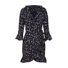 Boohoo Kleid 'Bethany Floral' creme / nachtblau