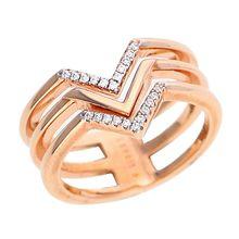Esprit Ring mit Steinbesatz ESRG02611D Ringe rosegold Damen