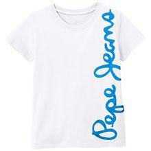 Pepe Jeans Jungen T-Shirt Waldo Short, Weiß (Blanc Optic White), 14 Jahre (Herstellergröße: 14)
