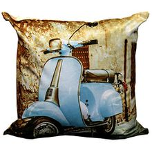Just Contempo Kissenbezug, Vespa blau, 43,2x 43,2cm, Polyester, blau, 43 x 43 cm (17 x 17 Zoll)