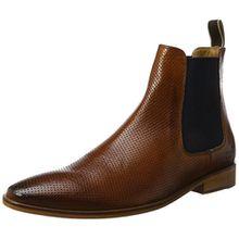Melvin & Hamilton Herren Daniel 7 Chelsea Boots, Braun (Venice Perfo Wood Ela. Navy LS-Nat.), 44 EU