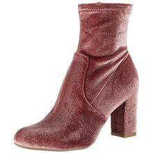 Steve Madden Damen Avenue Kurzschaft Stiefel, Pink (Blush Velvet), 37/38 EU(7.5 UK)