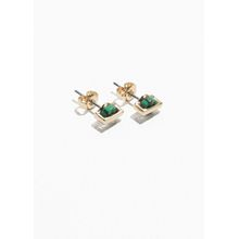 Stone and Bar Studs - Green