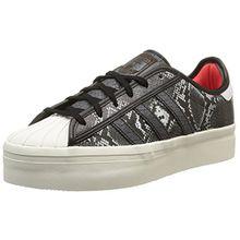 adidas Superstar Rize, Damen Sneakers, Schwarz - Noir (Core Black/Core Black/Tomato) - Größe: 38