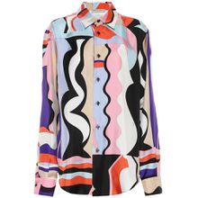 Bedruckte Bluse aus Seiden-Twill