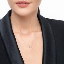 Halskette Infinity mit Diamanten, 18 K Roségold
