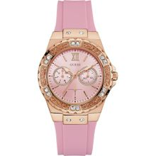 GUESS Quarzuhr 'LIMELIGHT' gold / pink