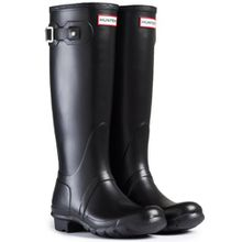 Damen Hunter Wellington Stiefels Original Tall Regen Schnee Wellies Neu - Schwarz - 44