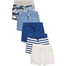 Sweatshorts 5er-Pack  blau/weiß Jungen Baby