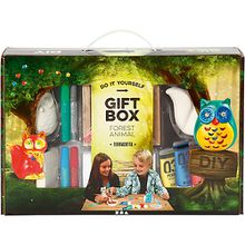 Geschenkbox kreatives Gestalten, Waldtiere aus Terracotta  Kinder