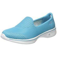 Skechers Damen Go Walk 4-Propel Sneakers, Blau (Turq), 36 EU