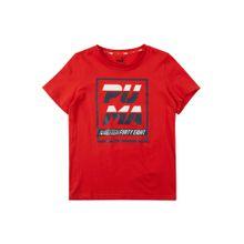 PUMA Shirt 'Alpha Graphic B' rot / schwarz / weiß