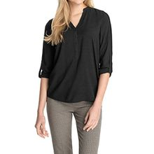ESPRIT Damen Regular Fit Bluse 995EE1F900, schwarz, 34