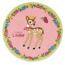 Kinderteppich Prinzessin Lillifee & das Reh, 130 cm rund rosa