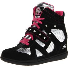 Skechers Double Trouble 80190L BKSP, Mädchen Sneaker, Schwarz (BKSP), EU 30