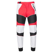tigha Herren Hosen Tevin mehrfarbig (white/racing red)