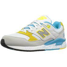 New Balance Damen Wl530v1 Sneakers, Bianco (Weiß (White/Blue/Yellow)), 39 EU/8 US