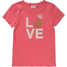 TOM TAILOR T-Shirt 'Ananas' gold / hellrot / weiß