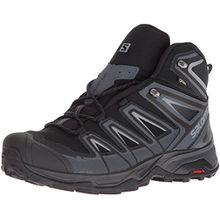 Salomon Herren Wanderschuh X Ultra 3 Mid GTX Men Trekking-& Wanderstiefel, Schwarz (Black/India Ink/Monument 000), 46 EU