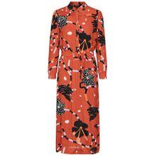 SELECTED FEMME Kleid orange / dunkelorange / schwarz / weiß