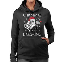 Christmas is Coming Stark Direwolf Sigil Game Of Thrones Women's Hooded Sweatshirt