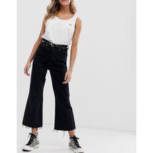 Levi's - Ribcage - Kurze Jeans mit Schlag - Schwarz