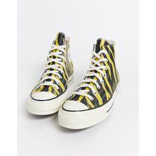 Converse – Chuck '70 Archive – Ledersneaker in Gelb mit Zebramuster