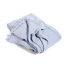 Hay - Crinkle Bedspread Tagesdecke, hellblau
