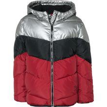 Pepe Jeans Winterjacke 'MOANA' rot / schwarz / silber