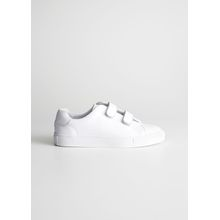 Duo Scratch Strap Sneakers - White