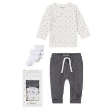 Noppies Geschenkverpackung 'medium' dunkelgrau / weiß