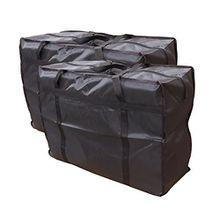 Evst Wäschesack / Aufbewahrungstaschen für Kleidung, Bettwäsche, Spielzeug / Umzugs-Taschen–Großer Wäschesack / Aufbewahrungstaschen mit Reißverschlüssen, 2 Stück braun