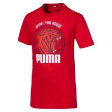 PUMA Sportshirt 'Alpha Graphic' feuerrot / weiß