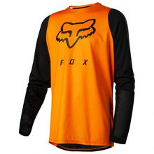 FOX Racing - Kid's Defend L/S Jersey - Radtrikot Gr M;S orange/schwarz