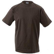 JN019 Junior Basic-T Kinder Komfort-T-Shirt aus hochwertigem Single-Jersey, Größe:S;Farbe:BROWN