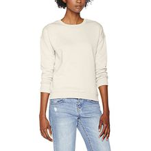 Urban Classics Damen Sweatshirt Ladies Sweat Crew, Elfenbein (Sand 208), Large