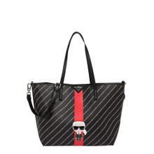Karl Lagerfeld Shopper 'k/stripe ikonik tote' schwarz