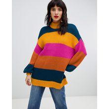 Vero Moda - Strickpullover mit breiten Streifen - Mehrfarbig