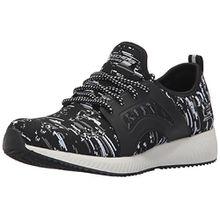 Skechers Damen Bobs Squad-Double Dare Slip on Sneaker, Schwarz (Black/White), 37 EU