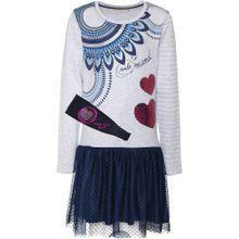 Desigual Kleid dunkelblau / graumeliert / pink