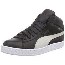 Puma 48 Mid GTX, Unisex-Erwachsene Hohe Sneakers, Schwarz (Black-Vaporous Gray-Vibrant Orange-White-Aged Silver 01), 42.5 EU (8.5 Erwachsene UK)