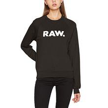 G-STAR RAW Damen Sweatshirt Xula Art Cropped R Sw Wmn, Grün (Asfalt 995), Medium