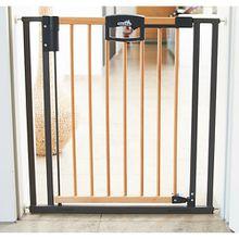 Türschutzgitter Easy Lock Wood, Holz / Metall, 80,5 - 88,5 cm holzfarben